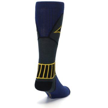 Image of Navy Grey Batman Suit Up Men's Casual Socks (side-1-back-20)