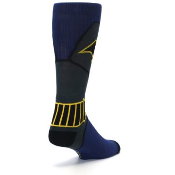 Image of Navy Grey Batman Suit Up Men's Casual Socks (side-1-back-21)