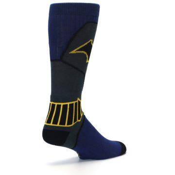 Image of Navy Grey Batman Suit Up Men's Casual Socks (side-1-back-22)