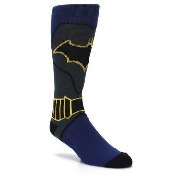Image of Navy Grey Batman Suit Up Men's Casual Socks (side-1-27)