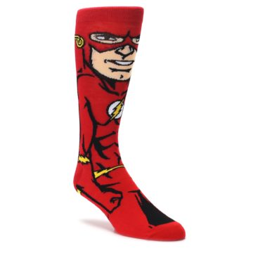 red yellow black flash mens novelty socks by BIOWORLD