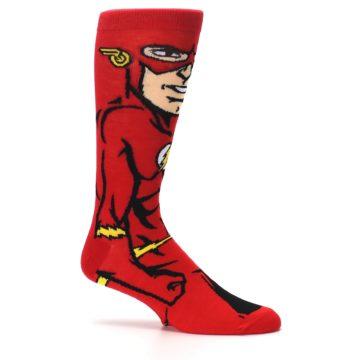 Image of Red Black Flash Superhero Men's Casual Socks (side-1-25)