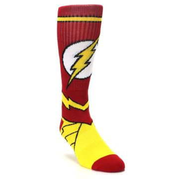 Image of Red Yellow Flash Suit Up Men's Casual Socks (side-1-front-02)