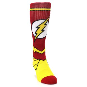 Image of Red Yellow Flash Suit Up Men's Casual Socks (side-1-front-03)