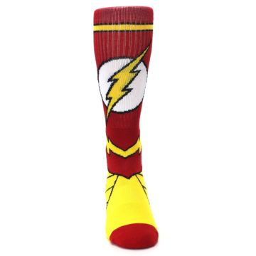 Image of Red Yellow Flash Suit Up Men's Casual Socks (front-04)