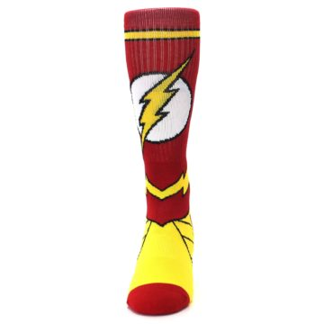 Image of Red Yellow Flash Suit Up Men's Casual Socks (front-05)
