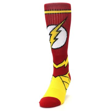 Image of Red Yellow Flash Suit Up Men's Casual Socks (side-2-front-06)