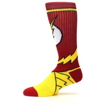 Image of Red Yellow Flash Suit Up Men's Casual Socks (side-2-11)