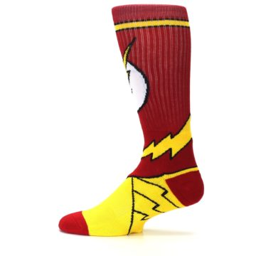 Image of Red Yellow Flash Suit Up Men's Casual Socks (side-2-12)