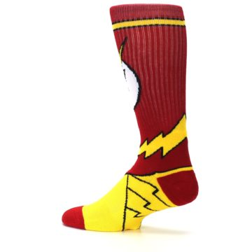 Image of Red Yellow Flash Suit Up Men's Casual Socks (side-2-13)