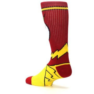 Image of Red Yellow Flash Suit Up Men's Casual Socks (side-2-back-14)