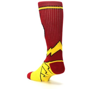 Image of Red Yellow Flash Suit Up Men's Casual Socks (side-2-back-15)