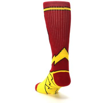 Image of Red Yellow Flash Suit Up Men's Casual Socks (side-2-back-16)