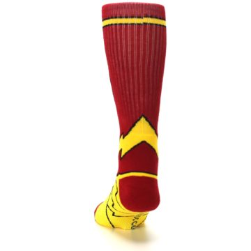 Image of Red Yellow Flash Suit Up Men's Casual Socks (back-17)