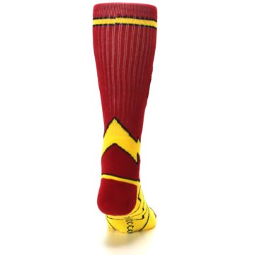 Image of Red Yellow Flash Suit Up Men's Casual Socks (back-19)