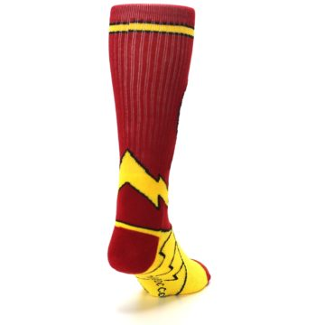 Image of Red Yellow Flash Suit Up Men's Casual Socks (side-1-back-20)