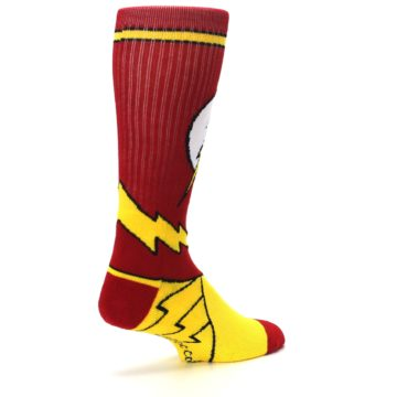 Image of Red Yellow Flash Suit Up Men's Casual Socks (side-1-back-22)