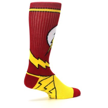 Image of Red Yellow Flash Suit Up Men's Casual Socks (side-1-23)