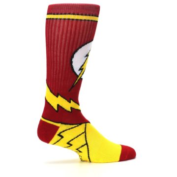 Image of Red Yellow Flash Suit Up Men's Casual Socks (side-1-24)