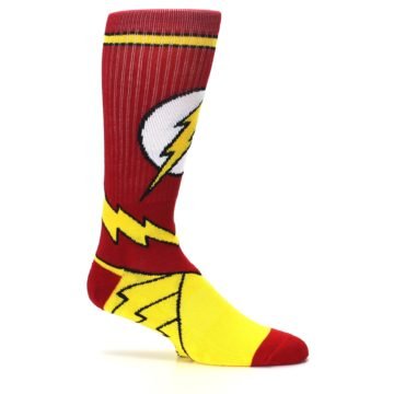 Image of Red Yellow Flash Suit Up Men's Casual Socks (side-1-25)