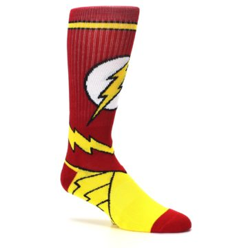 Image of Red Yellow Flash Suit Up Men's Casual Socks (side-1-26)