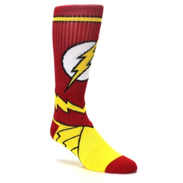 Image of Red Yellow Flash Suit Up Men's Casual Socks (side-1-27)