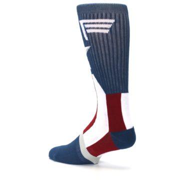 Image of Red White Blue Captain America Men's Casual Socks (side-2-back-14)