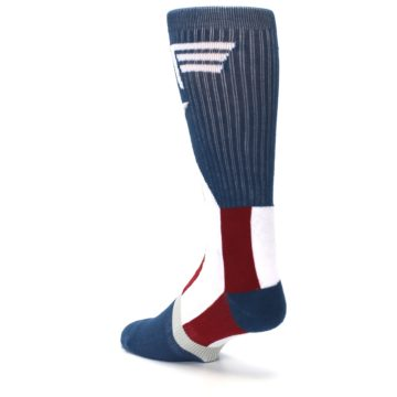 Image of Red White Blue Captain America Men's Casual Socks (side-2-back-15)