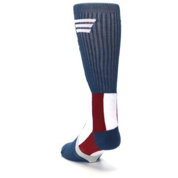 Image of Red White Blue Captain America Men's Casual Socks (side-2-back-16)