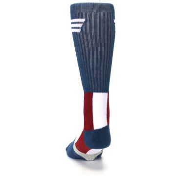 Image of Red White Blue Captain America Men's Casual Socks (back-17)