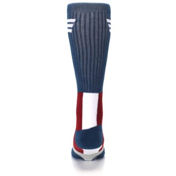 Image of Red White Blue Captain America Men's Casual Socks (back-18)