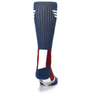 Image of Red White Blue Captain America Men's Casual Socks (back-19)