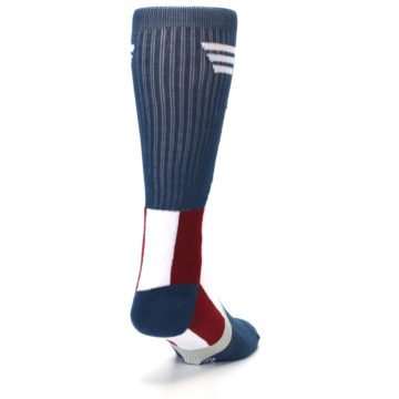 Image of Red White Blue Captain America Men's Casual Socks (side-1-back-20)