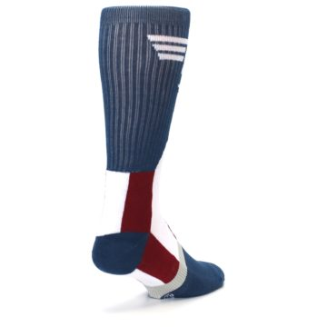 Image of Red White Blue Captain America Men's Casual Socks (side-1-back-21)