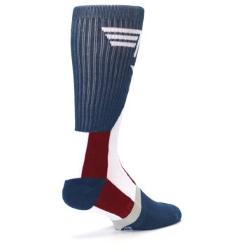 Image of Red White Blue Captain America Men's Casual Socks (side-1-back-22)