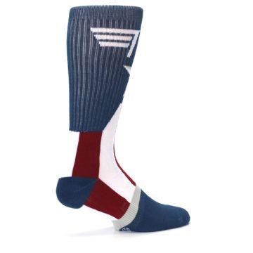 Image of Red White Blue Captain America Men's Casual Socks (side-1-23)