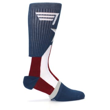Image of Red White Blue Captain America Men's Casual Socks (side-1-24)
