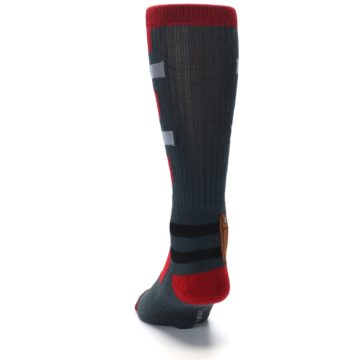 Image of Red Grey Deadpool Men's Casual Socks (back-17)