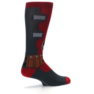 Image of Red Grey Deadpool Men's Casual Socks (side-1-23)