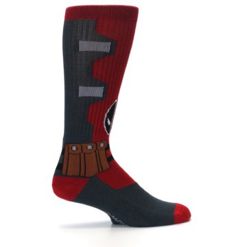 Image of Red Grey Deadpool Men's Casual Socks (side-1-24)