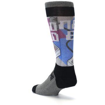 Image of Grey Multi Nintendo Game Controller Men's Casual Socks (side-2-back-15)