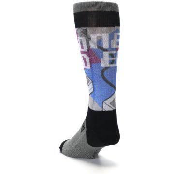 Image of Grey Multi Nintendo Game Controller Men's Casual Socks (side-2-back-16)