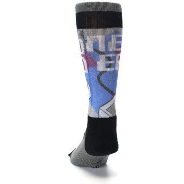 Image of Grey Multi Nintendo Game Controller Men's Casual Socks (back-17)