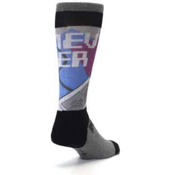 Image of Grey Multi Nintendo Game Controller Men's Casual Socks (side-1-back-21)