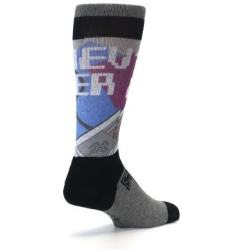 Image of Grey Multi Nintendo Game Controller Men's Casual Socks (side-1-back-22)