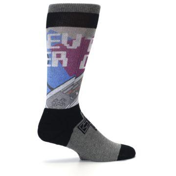 Image of Grey Multi Nintendo Game Controller Men's Casual Socks (side-1-24)