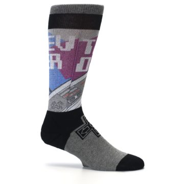 Image of Grey Multi Nintendo Game Controller Men's Casual Socks (side-1-25)