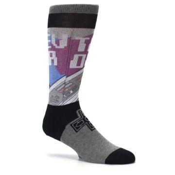 Image of Grey Multi Nintendo Game Controller Men's Casual Socks (side-1-26)