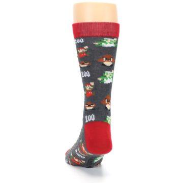 Image of Grey Super Mario Game Men's Casual Socks (back-17)