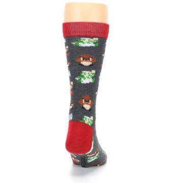 Image of Grey Super Mario Game Men's Casual Socks (back-19)